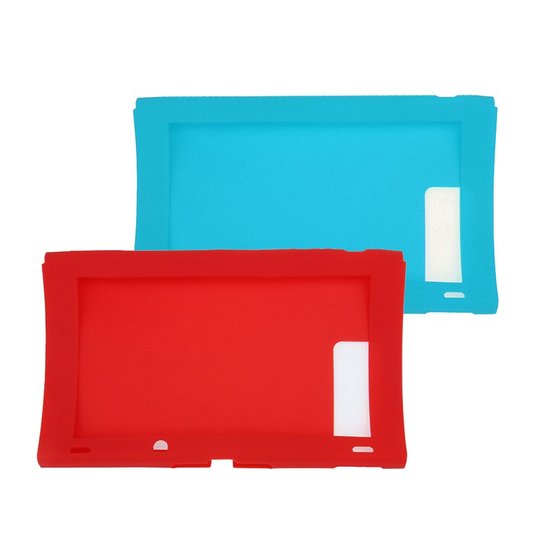 2017 New Case Cover Skin Silicone Case Cover For Nintendo Switch Host Case Cover Protector Game Accessories Red Blue Color