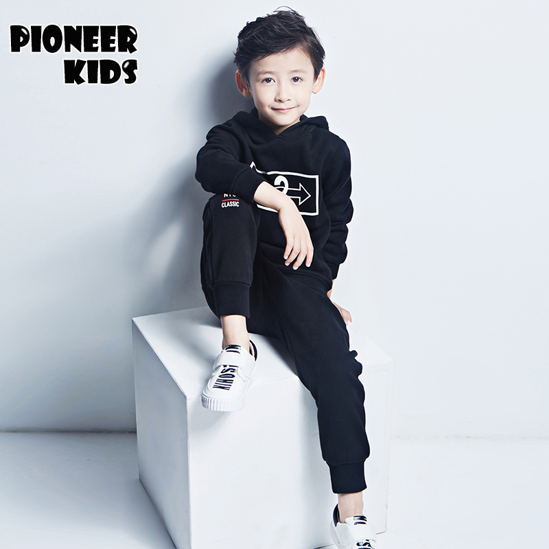 Pioneer Kids 2016 New 4 16Y Velvet Childrens Clothing Kids Clothes Boys Sets Toddler Boy Clothing