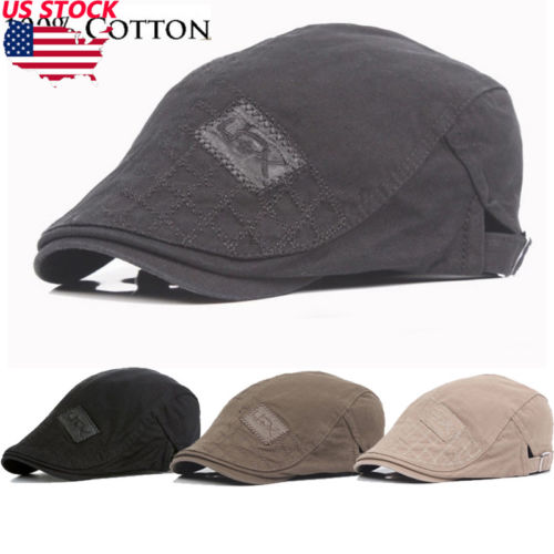 d7f9f38d9bd Thefound 2019 New Cotton Gatsby Cap Mens Ivy Hat Golf Driving Summer Flat  Cabbie Fashion Newsboy Cap-in Newsboy Caps from Apparel Accessories on ...