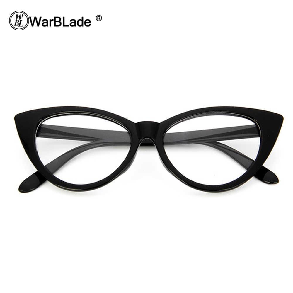 Fashion Wanita Cat Eye Glasses Frames Cat Eye Batal Kacamata Wanita Bingkai Kacamata Retro Kacamata Merek Desainer wanita