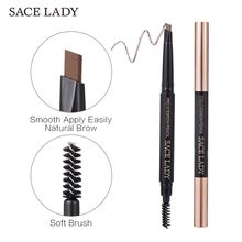 SACE LADY Make Up Eye Brow Pen Natural Long Lasting Paint Tattoo Eyebrow Black Brown Brush Paint Shade Easy Use Eyebrow Pencil косметика black paint купить