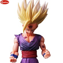 Dragon Ball Z Super Estatueta THE son Goku SUPER SAIYAN Troncos de GUERREIROS v-preto pvc Modelo Figura Toys(China)