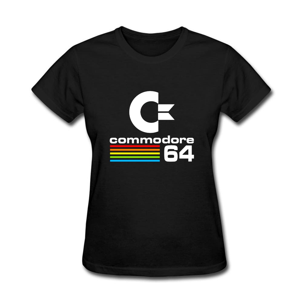 Женская футболка 80 s Commodore 64 печати Мемориал День подарков Костюмы Женские Черные хипстеры футболки