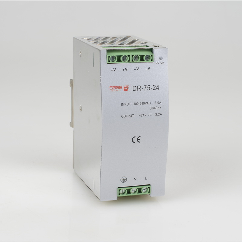 DR-75-24 75W 24V 3.2A Din rail Single Output Switching power supply ac dc converter SMPS dr 75 12 din rail 75w 12v single output switching power supply din rail 12v 75w