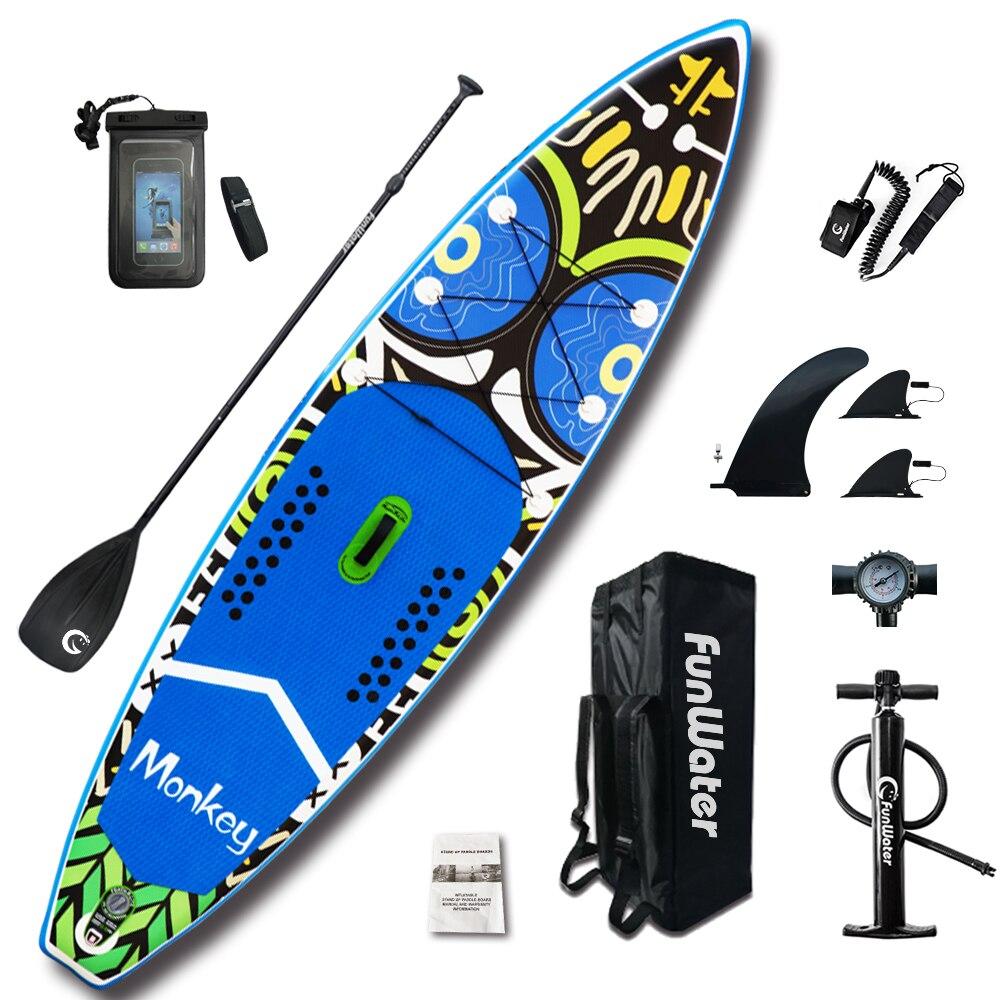 Gonflable Paddle Board 335*84*15 cm avec Réglable sup Paddle, Sac À Dos, laisse, pompe, stand up conseil étanche sac