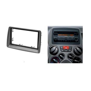 Doppel-din-fascia Für FIAT Panda Radio CD DVD Stereo Panel Dash Mount Installations Trim Kit Rahmenplatte Bezel