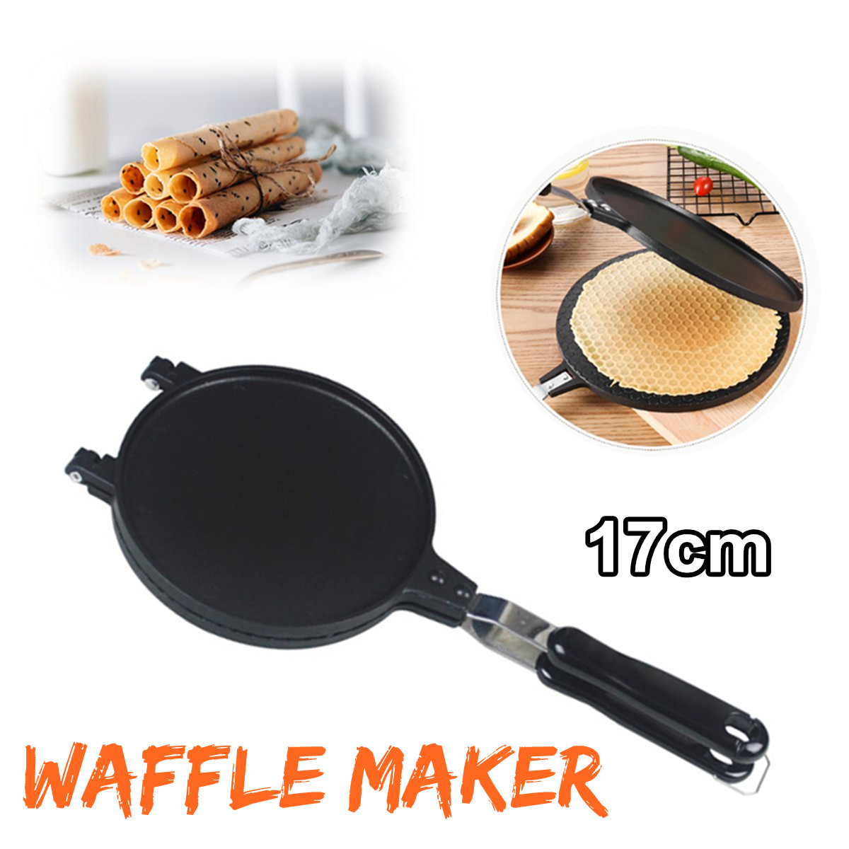 Waffle Bake Maker Kitchen Non-Stick Aluminum Alloy Waffle Maker Pan Mould Mold Press Plate Household Waffle Iron Baking Tools