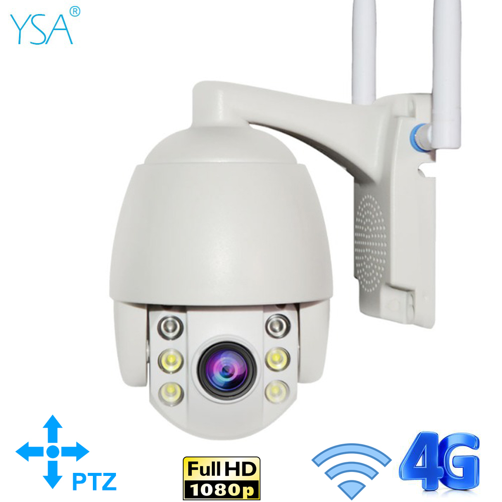 2MP 3G 4G Câmera PTZ IP Sem Fio Wifi 1080P Impermeável Ao Ar Livre Mini Cam P2P 5X Zoom Óptico duas Vias de Áudio Câmera de Segurança CCTV