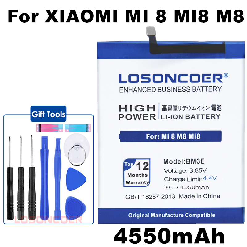 Phone-Batteries Replacement BM3E Xiaomi Real 4550mah For Mi-8/Mi8/M8/Real Genuine