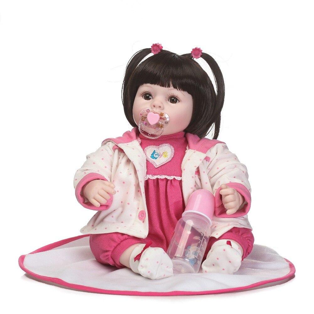 22inch Reborn Babies 55 cm Soft Silicone Vinyl So Truly handmade Doll bb reborn girl infant  Boneca Model kids birthday gifts