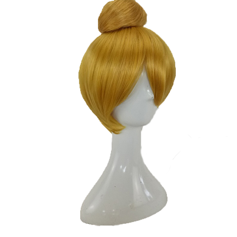 HAIRJOY  Synthetic Hair Tinker Bell Cosplay Wig with Detachable Bun Blonde Brown  Heat Resistant Costume Wigs 45