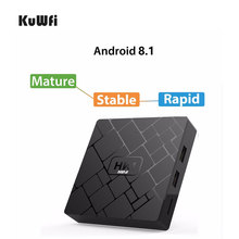 KuWFi Android 8.1 Smart 4K TV BOX 2G DDR3 16G EMMC HDMI2.0 Set Top Box 4K 3D H.265 Wifi Media Player TV Receiver ipremium ulive pro tv box android 8gb 4k ultra h 265 tv receiver with mickyhop os and stalker middleware support 10 url adding