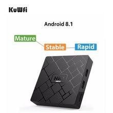 лучшая цена KuWFi Android 8.1 Smart 4K TV BOX 2G DDR3 16G EMMC HDMI2.0 Set Top Box 4K 3D H.265 Wifi Media Player TV Receiver