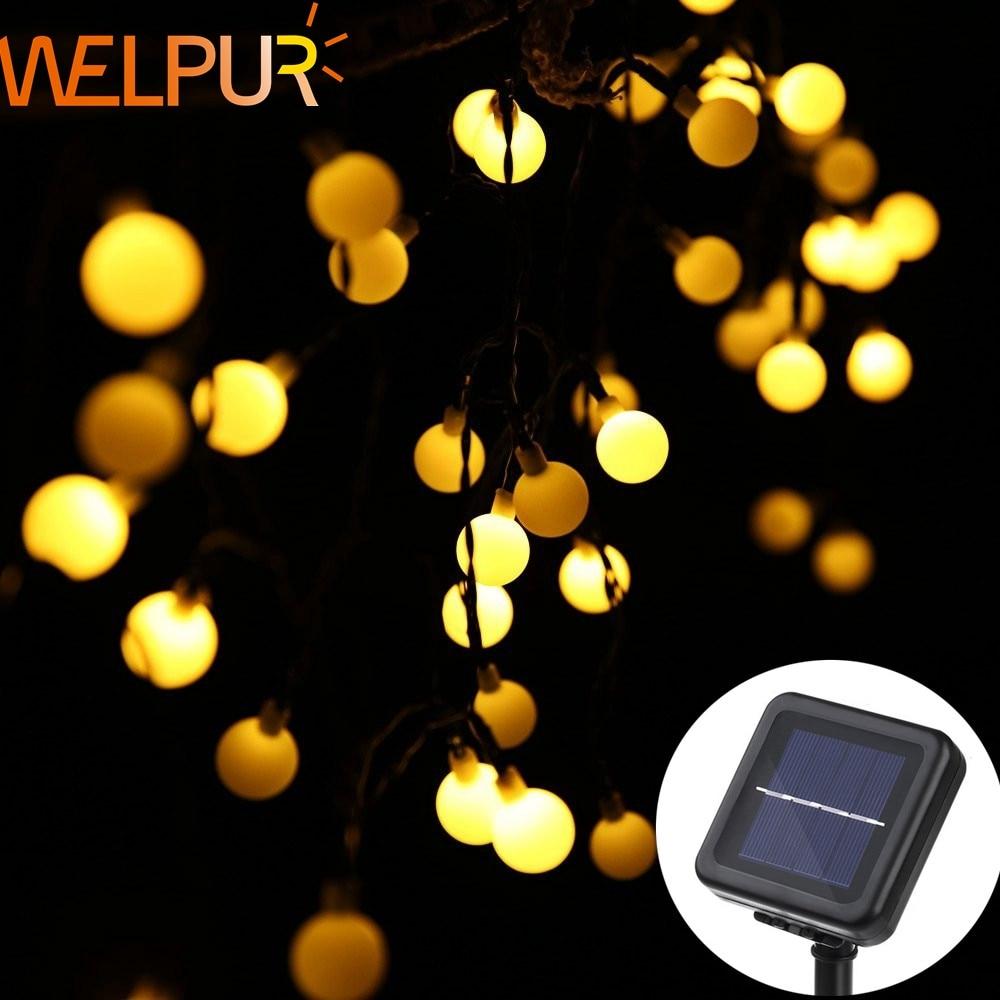 Welpur Led Solar Lamps Outdoor 5m 8m 12m Power LED String Fairy Lights Solar Light Garden Christmas Party Decoration String Ligh
