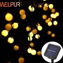 Welpur – lampe solaire d'extérieur 5m 8m 12m, guirlande lumineuse féerique, décoration de jardin, fête de noël