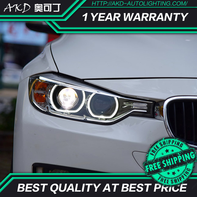 Us 1525 5 10 Off Aliexpress Com Buy Akd Tuning Cars Headlight For Bmw 3 Series F30 320i 320li Headlights Led Drl Running Lights Bi Xenon Beam Fog