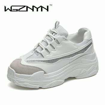 e5b8524f0fe1 WGZNYN Новая весенне-осенняя женская обувь для женская повседневная обувь;  Туфли на ...