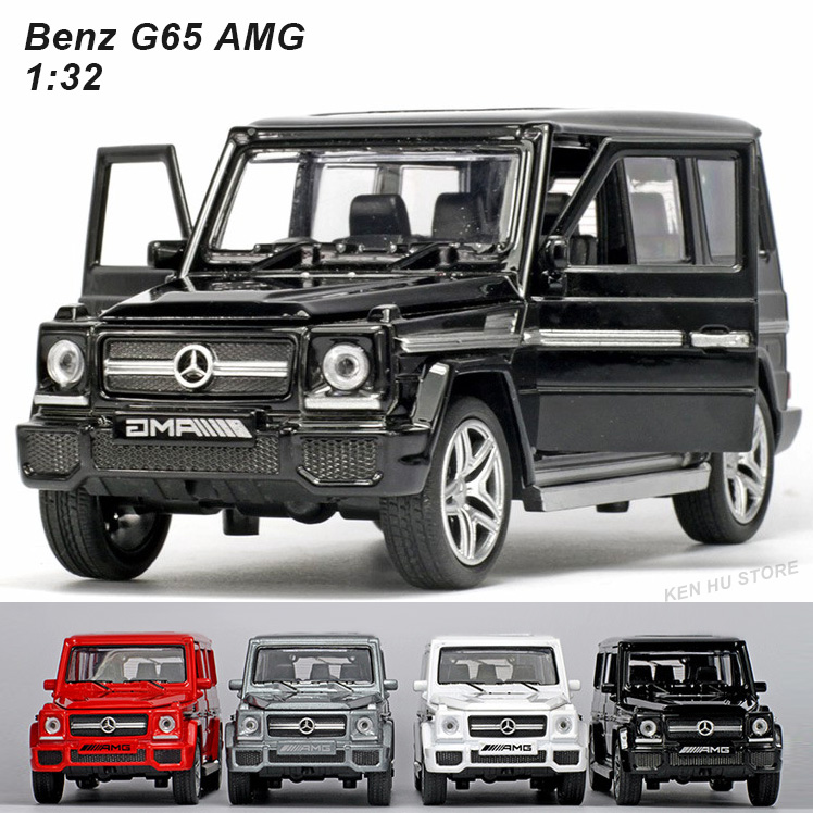 1 32 kids toys BZ AMG metal toy cars model with light and sound pull back