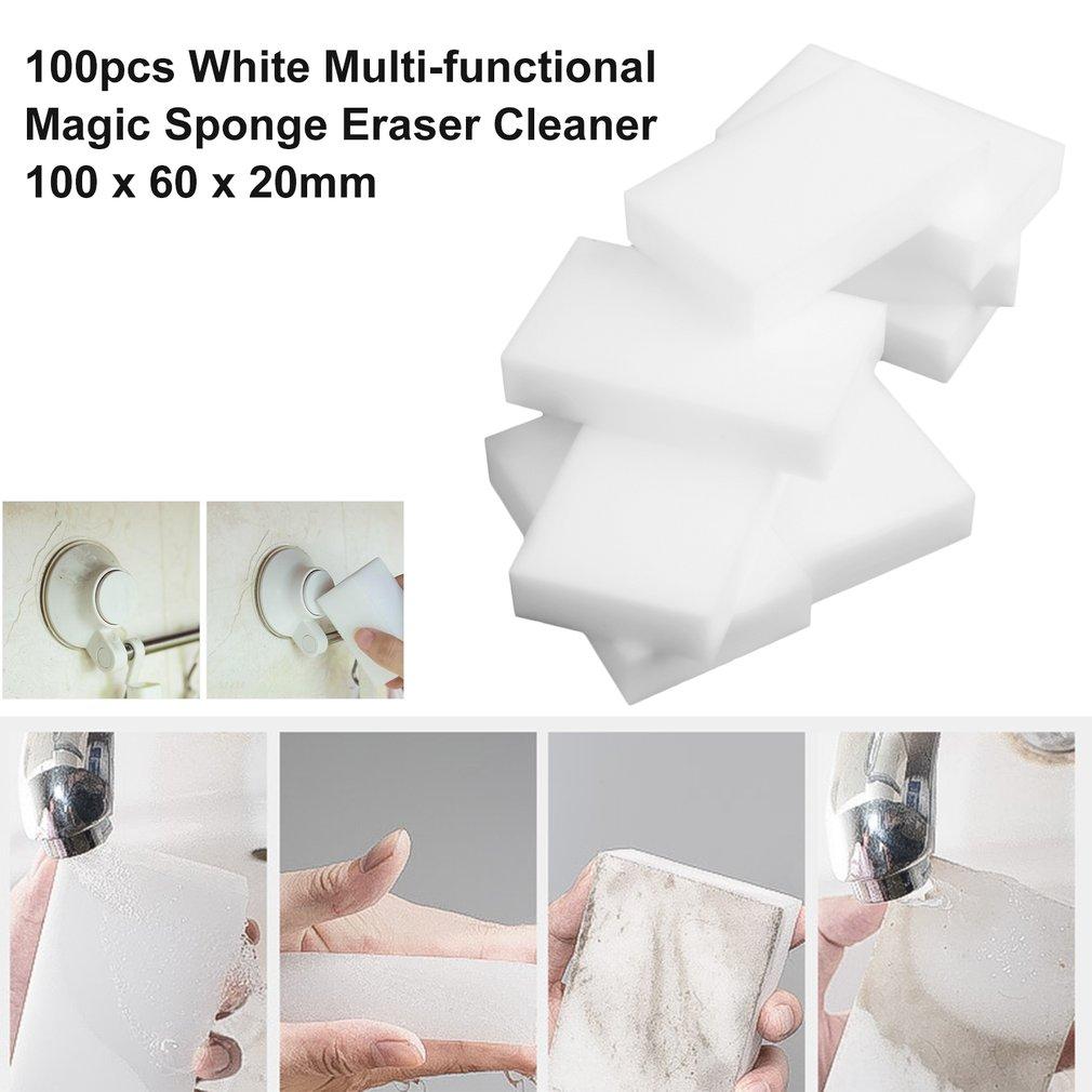 100pcs/lot White Magic Sponge Eraser Melamine Cleaner Multi ...