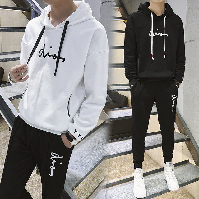2019 Spring Tracksuits Men Woman Hoodies Jacket + Sweatpants Suit Spring Sweatshirt Sportswear Set Male Hoodie Sporting Suits