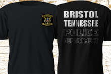 2019 Funny New Bristol Tennessee Police Department Military Swat Black Tshirt Double Side Unisex Tee