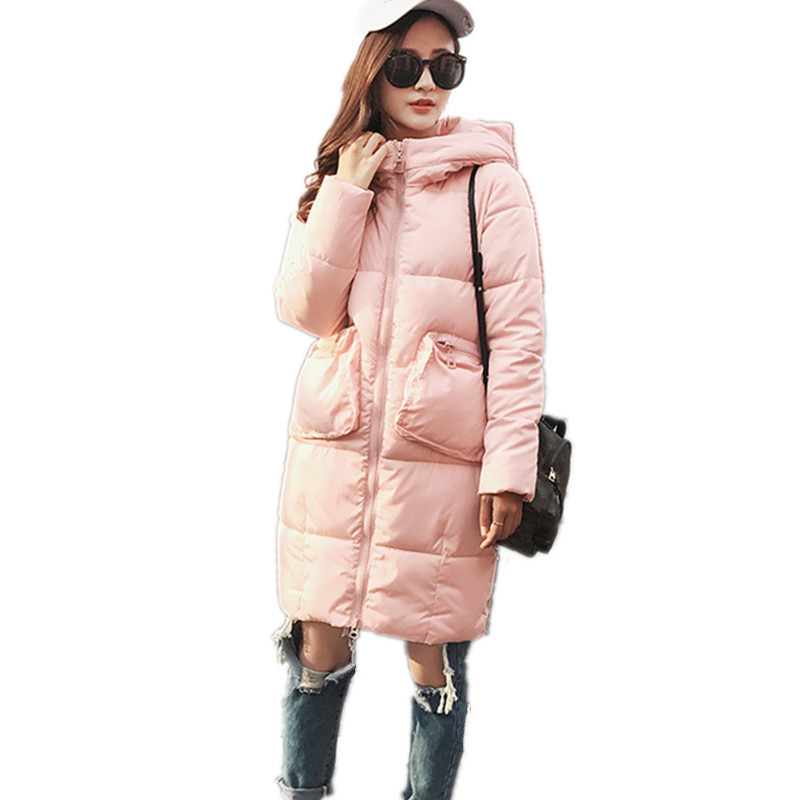 Winter New Medium-long Hooded Winter Jacket Warm Women Student's Cotton Padded Coat Parka Fashion Casual Parkas Outerwear TT3143 winter thickening women parkas women s wadded jacket outerwear fashion cotton padded jacket medium long loose casual parka c1142