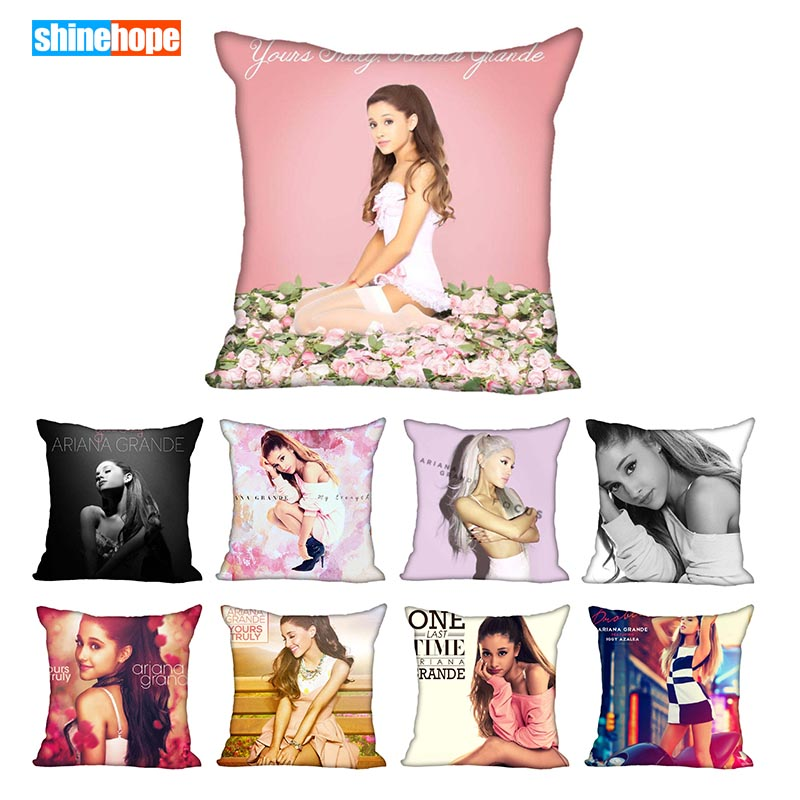 45X45cm,40X40cm(one Sides) Pillow Case Modern Home Decorative Ariana Grande Pillowcase For Living Room Pillow Cover