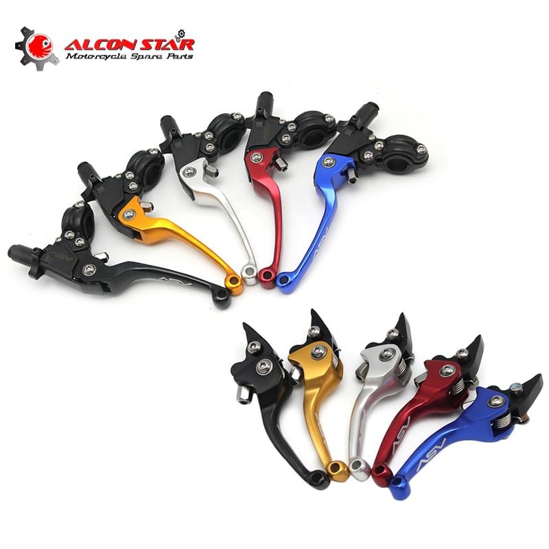 Alconstar- ASV F3 Series 2ND Clutch Brake Foldable Alloy Levers Tuning Accesories Moto Motocross Pitbike Dirt Bike CR CRF WR TTR delonghi antg 46 asv gu