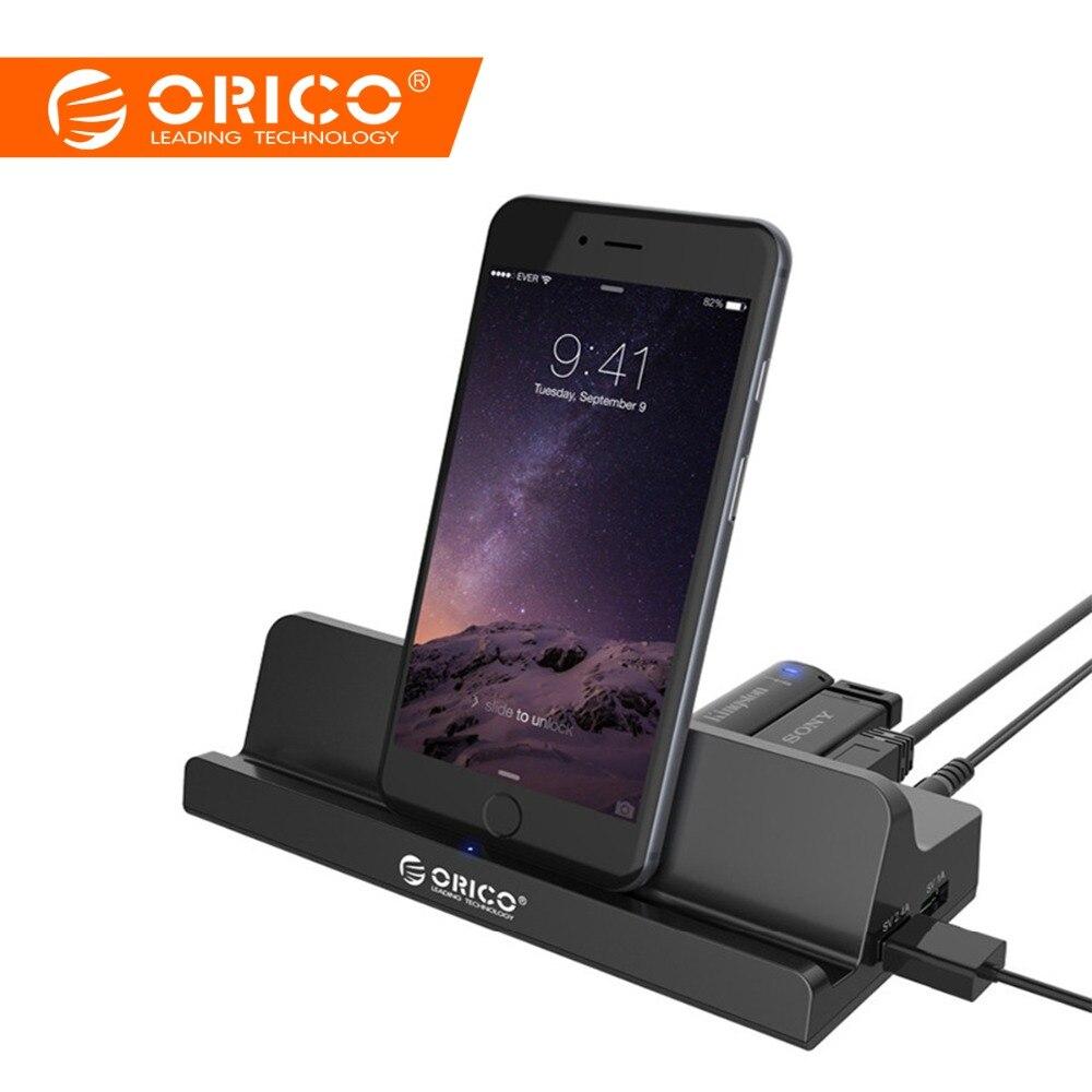 ORICO SH4C2 USB3.0 Универсальная док-станция 4 USB3.0 1 супер Зарядное устройство 1 Универсальный зарядки Порты и разъёмы с подставкой для поверхности-ч...