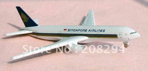 Wholesale Free Shipping,5pcs/lot Singapore Airlines B777-200 ,metal airplane models,airplane model, airbus prototype machine