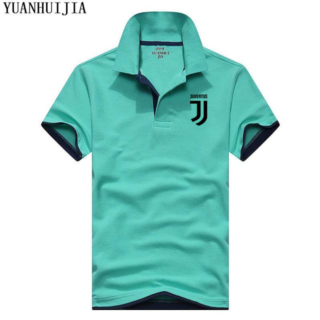 High Quality YUANHUIJIA Brand Summer Short Sleeve Polo Shirt Man Fashion Juventus Casual Men's Polo Shirts Cotton Tops