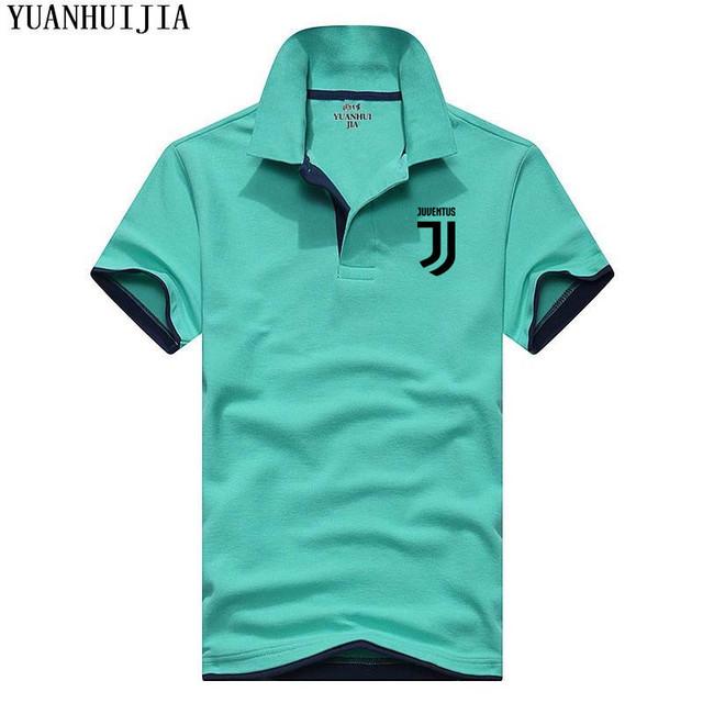 High Quality YUANHUIJIA Brand Summer Short Sleeve Polo Shirt Man Fashion Juventus Casual Men's Polo Shirts Cotton Tops