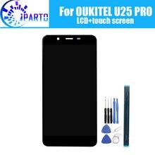 5.5 بوصة OUKITEL U25 برو شاشة الكريستال السائل + شاشة تعمل باللمس 100% الأصلي اختبار LCD محول الأرقام زجاج لوحة استبدال ل U25 برو