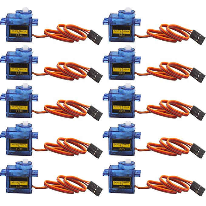 5pcs/lot New 9G Micro / Mini Servos + Horns For Rc Helicoper Airplane Better Than SG90 For RC 250 450 Helicopter