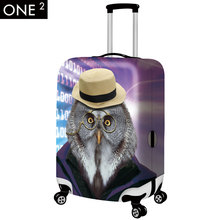Owl 22″-26″ Suitcase Cover Luggage Bag Anti-scratch Washable Dustproof Elastic suitcase cover
