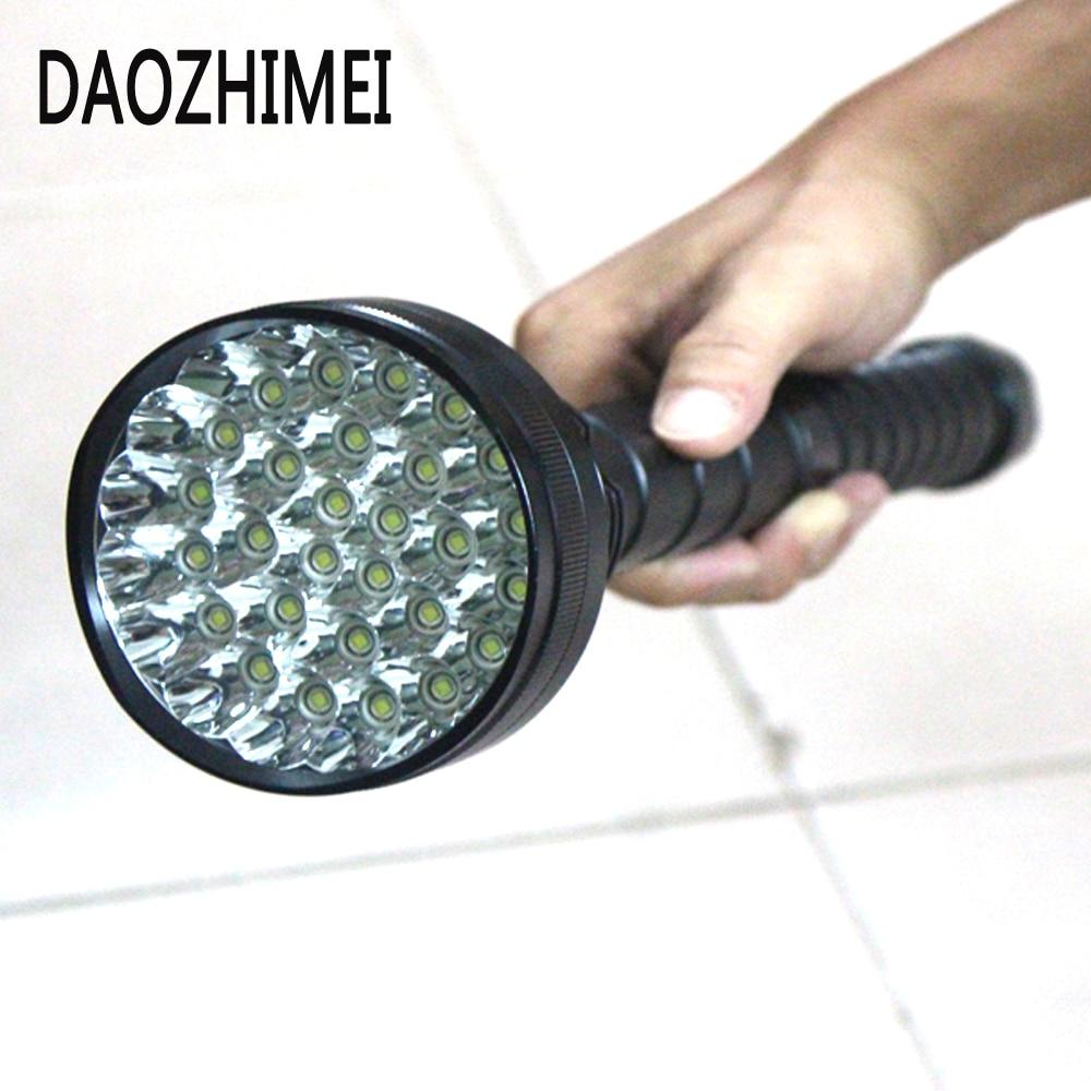 50000 Lumen XML T6 x28 LED High Power Flashlight tactical torch Powerful LED Flash light waterproof