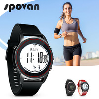 10 Styles SPOVAN 70g Ultra Thin Sport Business Watch for Men, Genuine Leather Silicone Watchband, Altimeter Beyond Series