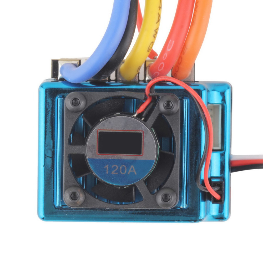 Image 5 - New 120A Sensored Brushless ESC Speed Controller T plug for 1/8 1/10 1/12 RC Car Crawler Wholesale-in Parts & Accessories from Toys & Hobbies