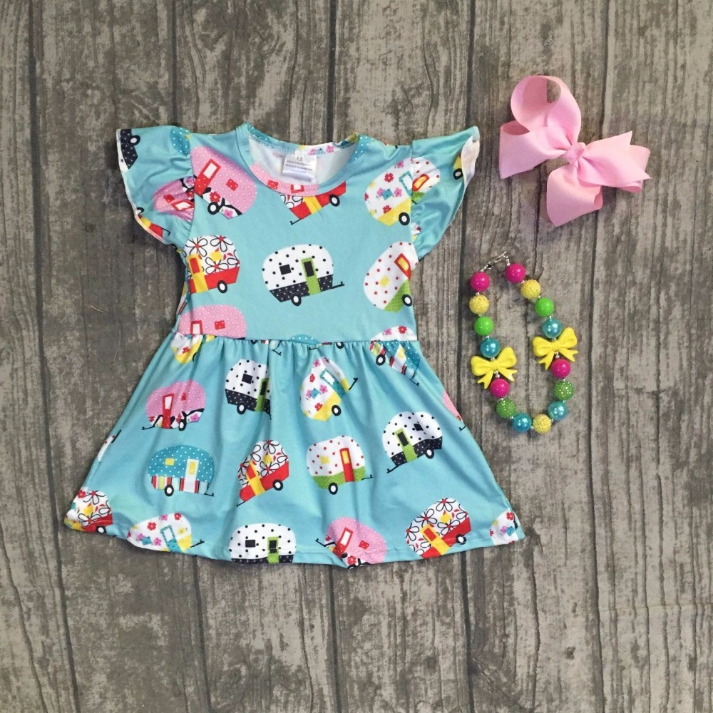 baby girls summer dress girls back to school dress kids car school dress clothing soft milk silk dress with necklace and bows zip back fit and flared plaid dress