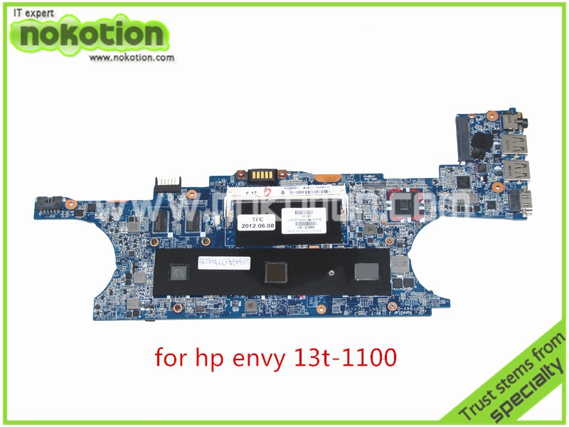 NOKOTION DA0SP6MBCG0 REV G 588573-001 For HP ENVY 13 13T-1100 laptop Motherboard Intel GS45 SL9600 CPU DDR3 Mainboard 656092 001 main board for hp pavilion dm4 dm4 2000 laptop motherboard ddr3 with i3 2310m cpu