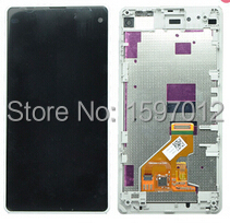 ФОТО For Sony xperia z1 compact D5503 z1 mini lcd display screen+digitizer touch glass+frame assembly white color free shipping