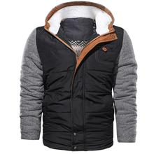 Brand Parkas Winter Jacket Men European size M-3XL  Casual Slim Cotton Thick Mens Coat Parkas With Hooded Warm Casaco Masculino