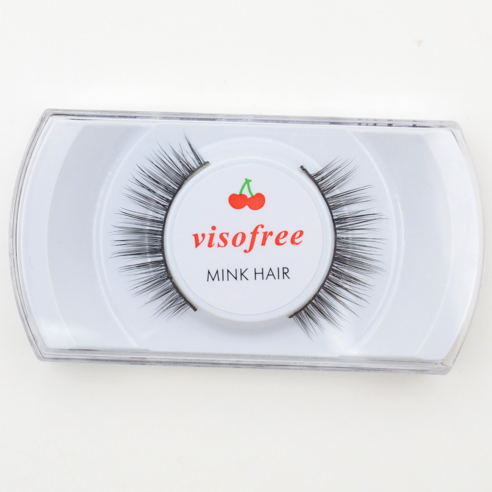Visofree Mink Hair Eylashes Handmade Long Thick Cross False Eyelashes Makeup Eye Lashes Extension #004