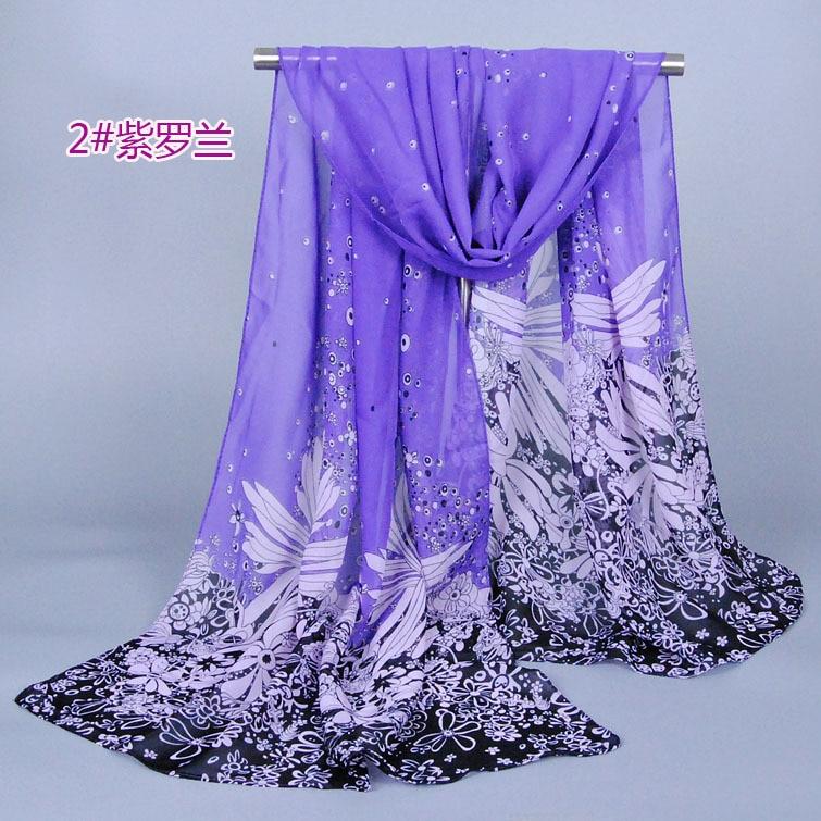 Дамы printe одуванчик цветочные shawls шифон шелковый пляж картина повязка на голову женский длинная голова цветок scarves / shawls XQ096