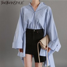 TWOTWINSTYLE Plus Size Ruffles Pleated Women's Blouses