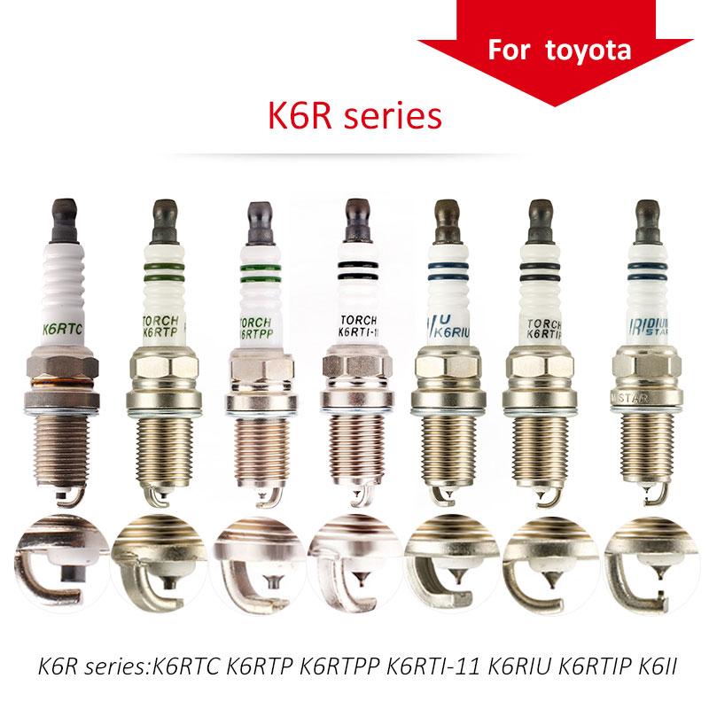 4 unids/lote China antorcha bujías K6R serie para TOYOTA CAMRY; corola; HIGHLANDER yo; RAV 4 RAV 4 II RAV 4 III; YARIS