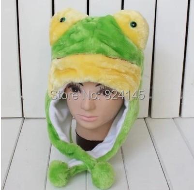 e3fe06828331 Chapeaux pour femmes Hat animaux grenouille verte Gorros peluche enfants et  ChildrenSkullies et bonnets