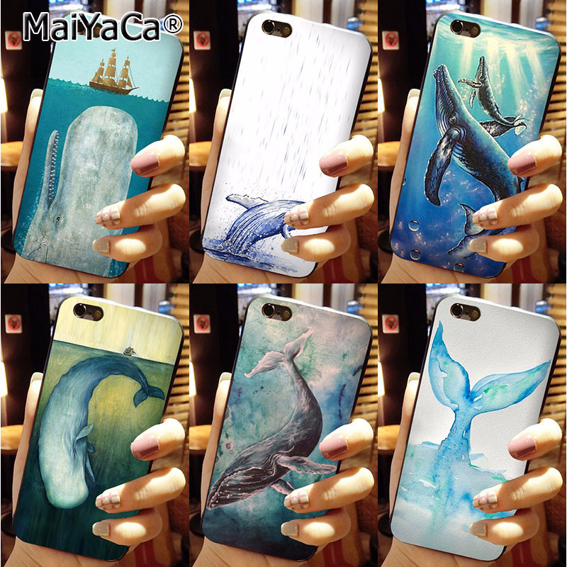 MaiYaCa Sea and whale Black Soft TPU silicone Novelty Fundas Phone Accessories C