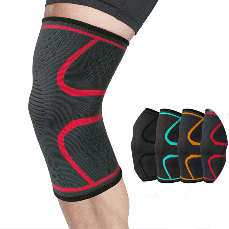 1pc Nylon Elastic Sports Knee Pads Breathable Knee Support Brace Running Fitness Hiking Cycling Knee Protector Joelheiras