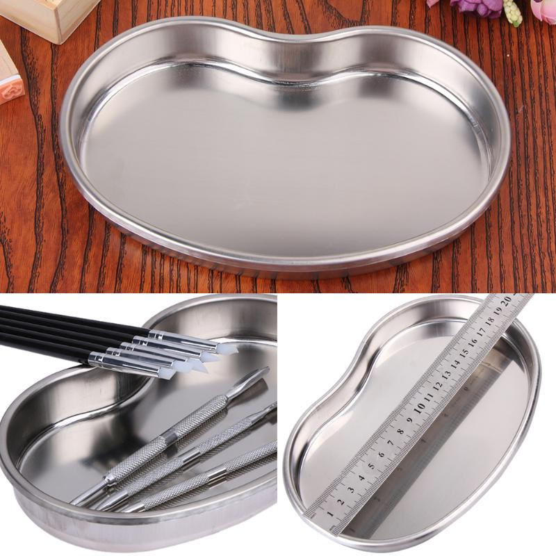 Dental Stainless Steel Medical Tools Storage Tray Dish Nail Tattoo Medical Device Supplies Storage Case Kitchen Tools